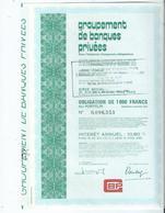 Action Groupement Des Banques Privées - G - I