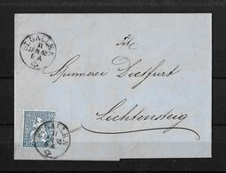 1862-1881 SITZENDE HELVETIA (gezähnt) → Brief St.Gallen Nach Lichtensteig 1865 - Lettres & Documents