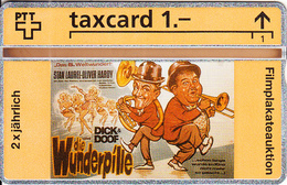 SWITZERLAND(L&G) - Die Wunderpille, Dick & Doof((Stan Laurel & Oliver Hardy), CN : 211L, Tirage 2500, 11/92, Mint - Svizzera