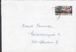 Denmark Margrethevej 6, HELLERUP Brotype Vd KØBENHAVN Ø (Sn. 4) 1988? Cover Brief Dansk Metal Stamp - Dänemark