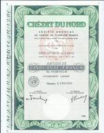 Action Credit Du Nord - Actions & Titres