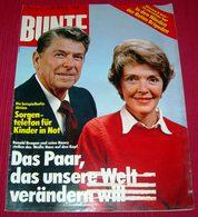 Ronald Reagan Nancy Reagan - BUNTE - German January 1981 RARE - Magazines & Newspapers