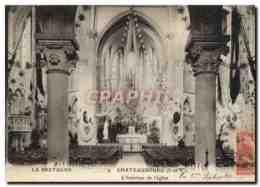 CPA Chateaubourg L Interieur De L Eglise - France