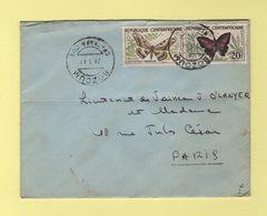 Centrafrique - Bozoum - 1961 - Papillons - Centrafricaine (République)