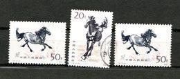 Chine Lot De 3 Chevaux 1978 - 1949 - ... République Populaire