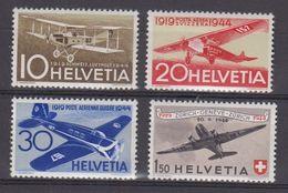 Switzerland 1944 25J Schweizerische Flugpost 4v ** Mnh (42432) - Unused Stamps