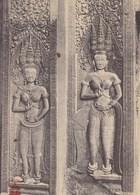Asie - Cambodge - Ruines D'Angkor - Bas-Relief (danseuses) Dans Une Salle D'Angkor-Wat - Thaïlande