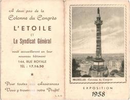 Bruxelles Exposition 1958 - Colonne Du Congrès - L\'Etoile Et Le Syndicat Général - Bruxelles-ville