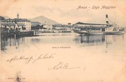 """1067 """"(NO) ARONA - LAGO MAGGIORE - SCALO PIROSCAFI"""" ANIMATA, BATTELLO. CART  SPED - Novara"""
