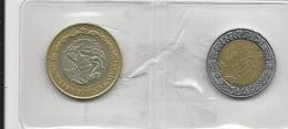 Mexico 2 Coins 5 Pesos 2007+10 Pesos 2010 - Munten & Bankbiljetten