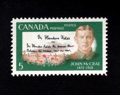 753863927 1969 SCOTT 487 POSTFRIS MINT NEVER HINGED EINWANDFREI XX  JOHN MCCRAE AND FLANDERS FIELDS - 1952-.... Règne D'Elizabeth II