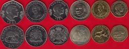Tanzania Set Of 6 Coins: 5 - 200 Shillingi 1992-2012 UNC - Tanzania
