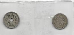 2 Coins V Cents 1902 USA + 10 Bani 1906 Romania - Monedas & Billetes