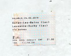 Billet Bateau Evian Lausanne - Boat Ticket