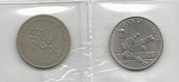 Portugal 2 Coins 25 Escudos Açores + Mundial Hóquei - Munten & Bankbiljetten