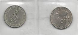 Portugal 2 Coins 25 Escudos Açores + FAO - Munten & Bankbiljetten