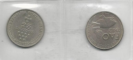 Portugal 2 Coins 25 Escudos Açores + FAO - Kilowaar - Munten