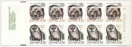 Sweden Sverige 1989  Nature Wolverine + Ural Stamp Booklet MNH Skunk Bear, Ural Owl, Vielfrasz, Habichtskauz, Tree - Unclassified