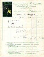 02.AISNE.HIRSON.VERMIUS CHASSE TOUS LES VERS.DEPOT GENERAL PLACE DE LA CROIX. - Chemist's (drugstore) & Perfumery