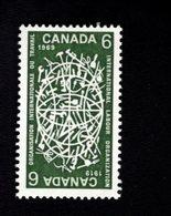 753868268 1969 SCOTT 493  POSTFRIS MINT NEVER HINGED EINWANDFREI XX  CONTEMPORARY INDIAN LACROSSE PLAYERS - 1952-.... Règne D'Elizabeth II