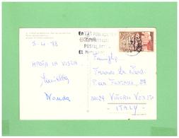 1978 ESPANA AIR MAIL POSTCARD WITH 1 STAMP TO ITALY - 1931-Tegenwoordig: 2de Rep. - ...Juan Carlos I