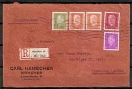 ALEMANIA IMPERIO. 1928-32. RECORTE. YT 465,466,414,435 - Allemagne