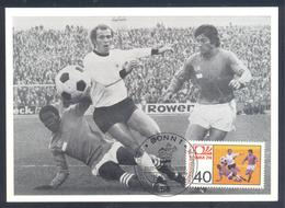 Germany 1974 Maximum Card: Football Fussball Soccer Calcio: FIFA World Cup; Germany - France (1973) Match - Fußball-Weltmeisterschaft