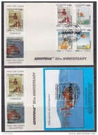 Cambodia 1997  Helicopters Greenpeace 4v  + M/s 2 FDC (42437) Promotion - Cambodja