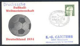 Germany 1974 Cover: Football Fussball Soccer Calcio: FIFA World Cup; Hamburg Cancllation - Fußball-Weltmeisterschaft