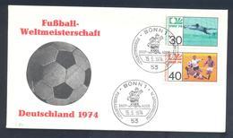 Germany 1974 Cover: Football Fussball Soccer Calcio: FIFA World Cup; Bonn Cancllation - Fußball-Weltmeisterschaft