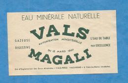 VALS LES BAINS ETIQUETTE EAU MINERALE ARDECHE WATER LABEL MAGALI - Etiquettes