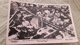 Maroc Casablanca L'Egise Du Sacré Coeur Le Rond Point Mermoz Et La Rue D'Alger - Casablanca