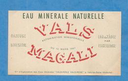 VALS LES BAINS ETIQUETTE EAU MINERALE ARDECHE WATER LABEL MAGALI Rouge - Non Classés