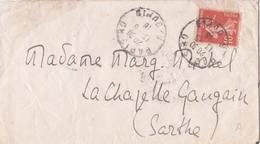 Semeuse Camée 10ct Rouge Paris 1918 La Chapelle Gaugain Sarthe - 1906-38 Semeuse Camée
