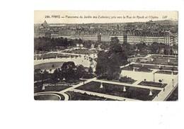 Cpa - 75 - PARIS - Panorama Jardins Tuileries Pris Vers Rue Rivoli Opéra - LIP 281 - Publicité BON MARCHE Magasins - Places, Squares