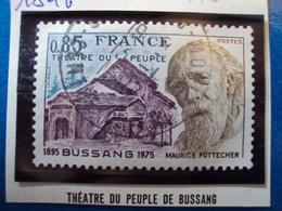 """1970-79-timbre Oblitéré N° 1846    """" Théatre Du Peuple De Bussang      """"    0.40 - France"""