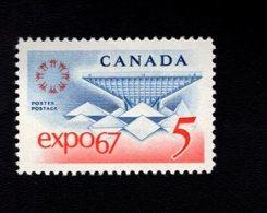 753878222 1967  SCOTT 469 POSTFRIS MINT NEVER HINGED EINWANDFREI XX EXPO 67 EMBLEM AND CANADIAN PAVILLION - 1952-.... Règne D'Elizabeth II
