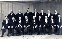 Carte Photo Groupe De Conseillers Municipaux De Bois Colombes1912 - Autres Communes
