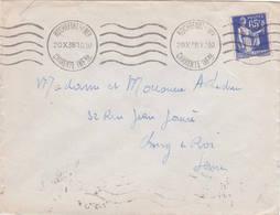 Paix 65ct Bleue 1938 Rochefort Charente Byrrh - 1932-39 Frieden