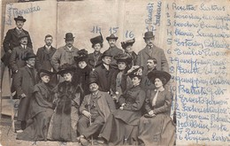"1078 ""SAVIGLIANO (CN) - TEODORO CUNIBERTI - 1849/1913 - COMPAGNIA DEL TEATRO PIEMONTESE 1900/1902"" - Personnes Identifiées"