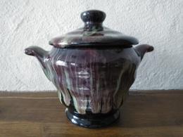 PETIT MASSE MORVAN  -  SUCRIER Ou BONBONNIERE - Grès Flammé ( Tamnay En Bazois ) - Céramiques