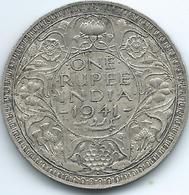 India - George VI - 1941 - 1 Rupee - KM556 - Security Edge - Indien