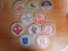 10 Sous-bocks Bières Allemandes  (box3-6) - Sous-bocks