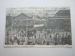 TRINIDAD , Postcard With Stamp Send To Germany 1909, Tram - Trinidad