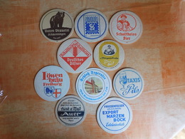 10 Sous-bocks Bières Allemandes  (box3-9) - Sous-bocks