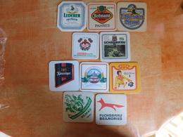10 Sous-bocks Bières Allemandes  (box3-11) - Beer Mats
