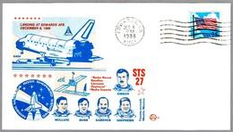 LANDING STS-27 SHUTTLE MISSION. Edwards CA 1988 - FDC & Conmemorativos