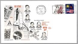SPACE SHUTTLE - Lanzamiento STS-27. Kennedy Space Ctr FL 1988 - FDC & Conmemorativos