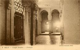 Oran - Temple Israélite , Péristyle - Thème Judaica Judaisme Synagogue Synagoge Juif Juifs Jew Jewish Juden - Oran