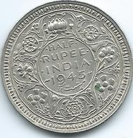 India - George VI - 1945 - ½ Rupee - KM552 - Bombay Mint - Security Edge - Inde